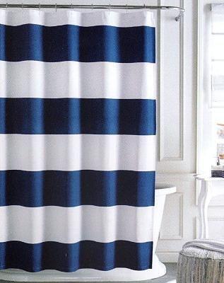 Tommy Hilfiger Cabana Stripe Shower Curtain White Amp Navy Blue