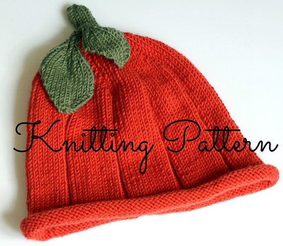 Knit Baby Hat Pattern Pinterest : Knitting Pattern - Baby Pumpkin Hat - Debbie Bliss Baby Cashmerino - Instant ...