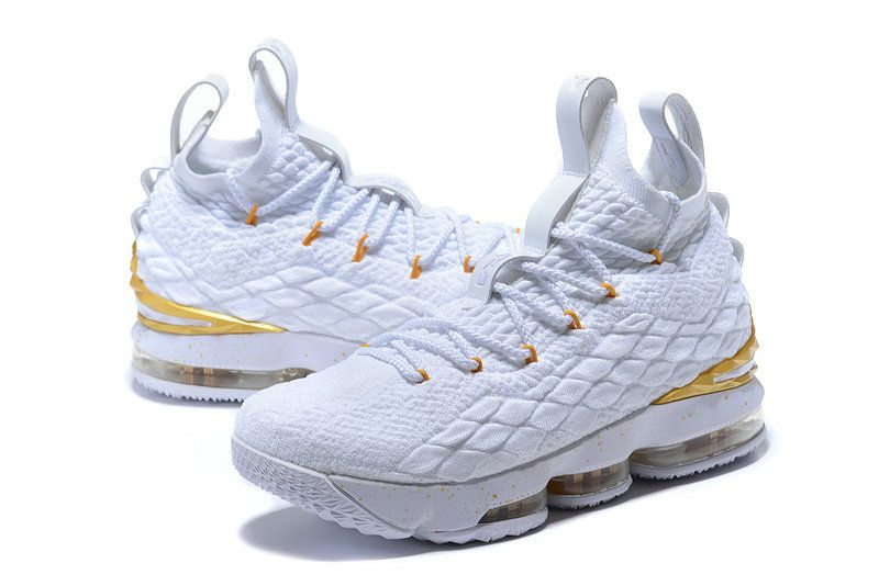a5311afeead06 Adaptable Nike Lebron XV 15 EP White Gold James Trainers Mens Basketball  Shoes