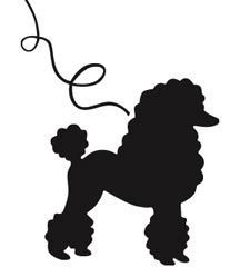 poodle skirt applique template - black outline poodle google search needles and skin