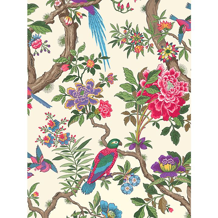 Cole & Son Fontainebleau Paste the Wall Wallpaper, Fuchsia