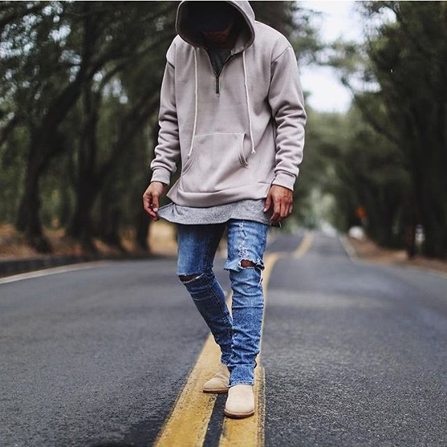 Gray Chelsea Boots Mens Outfit