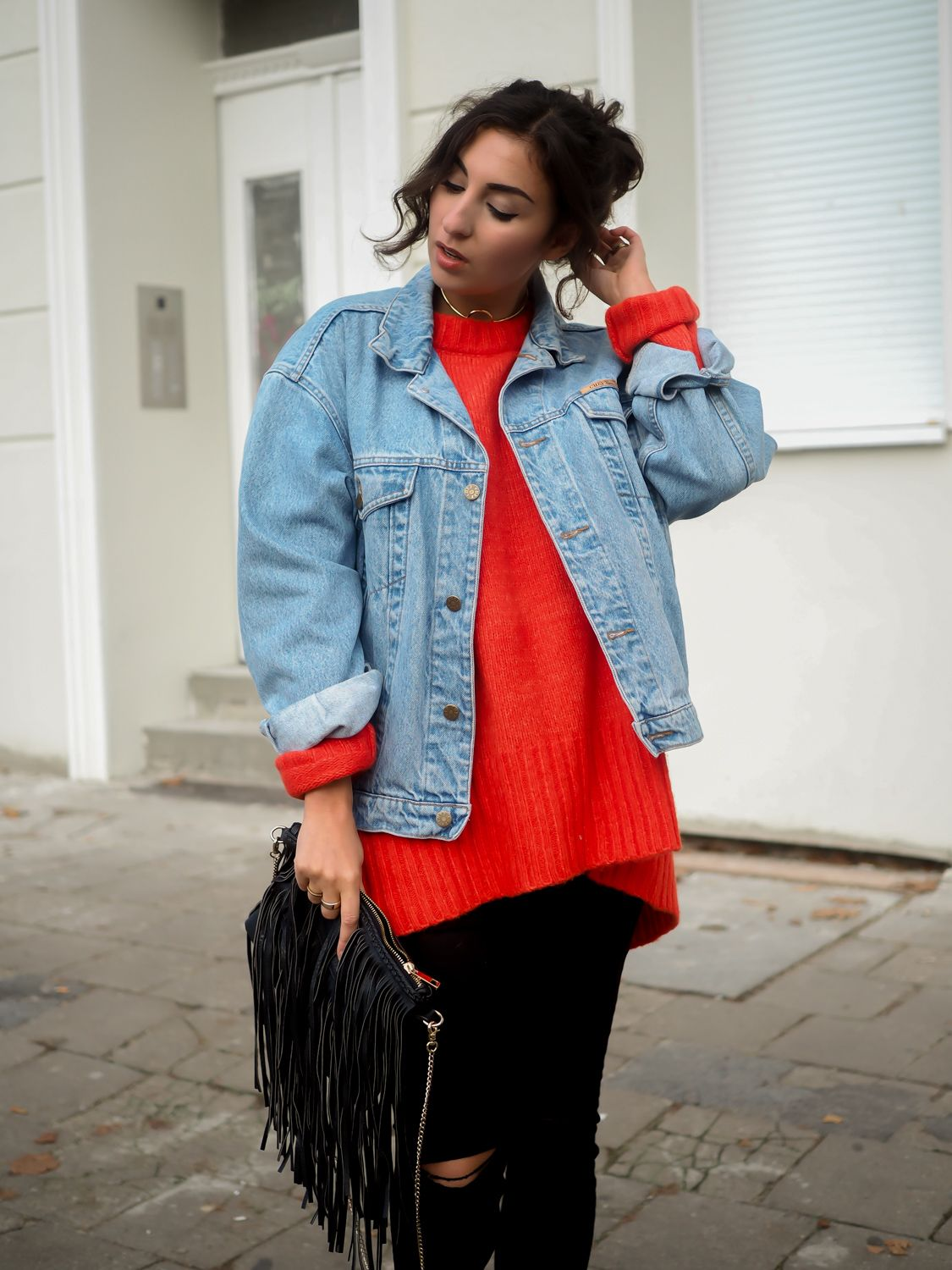 Zara Red Oversize Sweater roter pullover look ivyrevel ...