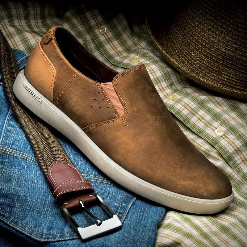 Slip On Merrell Men S Touring Moc For Easy Wear And Casual Comfort Throughout Your Day Dress Shoes Men Comfortable Shoes Shoes Mens
