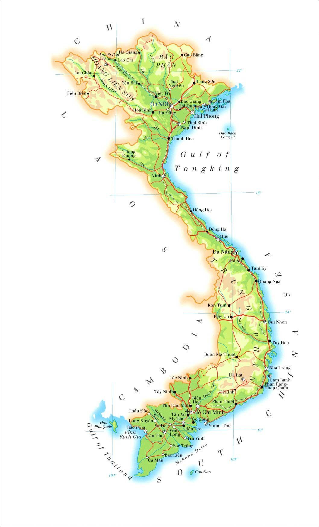 MapVietnam DAO Reference Wiki Endaonet Ban Do - Rivers of vietnam map