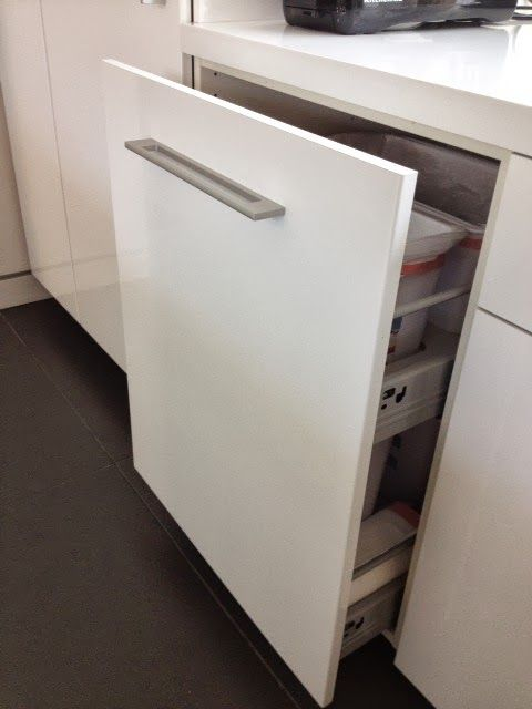 """IKEA Hackers: Non-flimsy full height, 24"""" wide recycling and trash cabinet"""