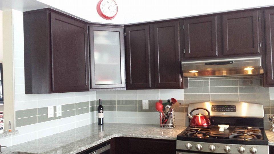 Best Dark Cabinets Glass Tile Moon White Granite My Kitchen 640 x 480