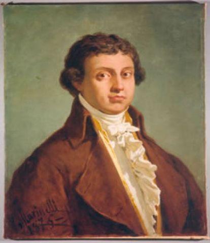 Antonio Salieri (1750-1825), painting (1876), by Vincenzo Marinelli (1819-1892).