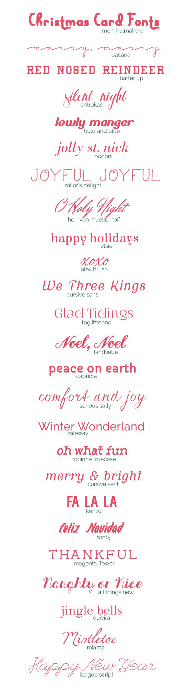 Freebie 25 Christmas Card Fonts S Booking