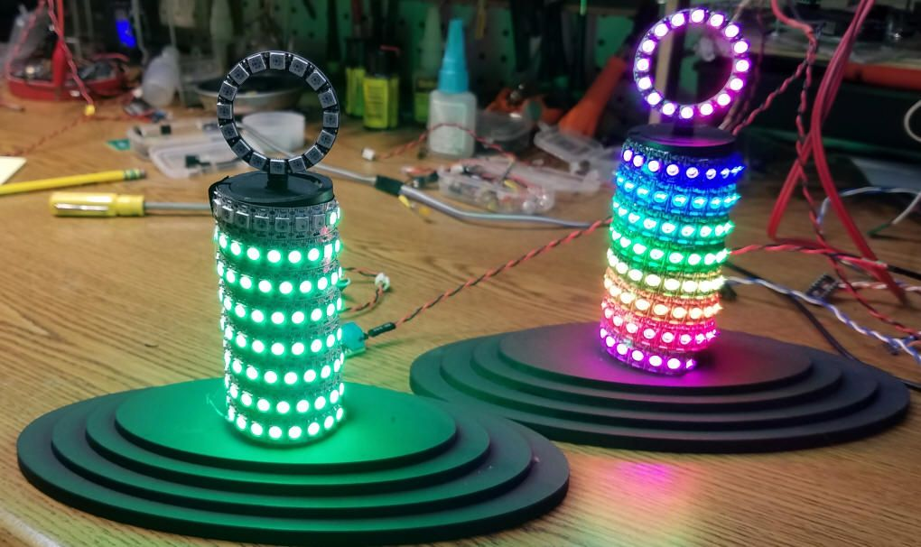 160 LEDs Chasing Round & Round wth an arduino mini and