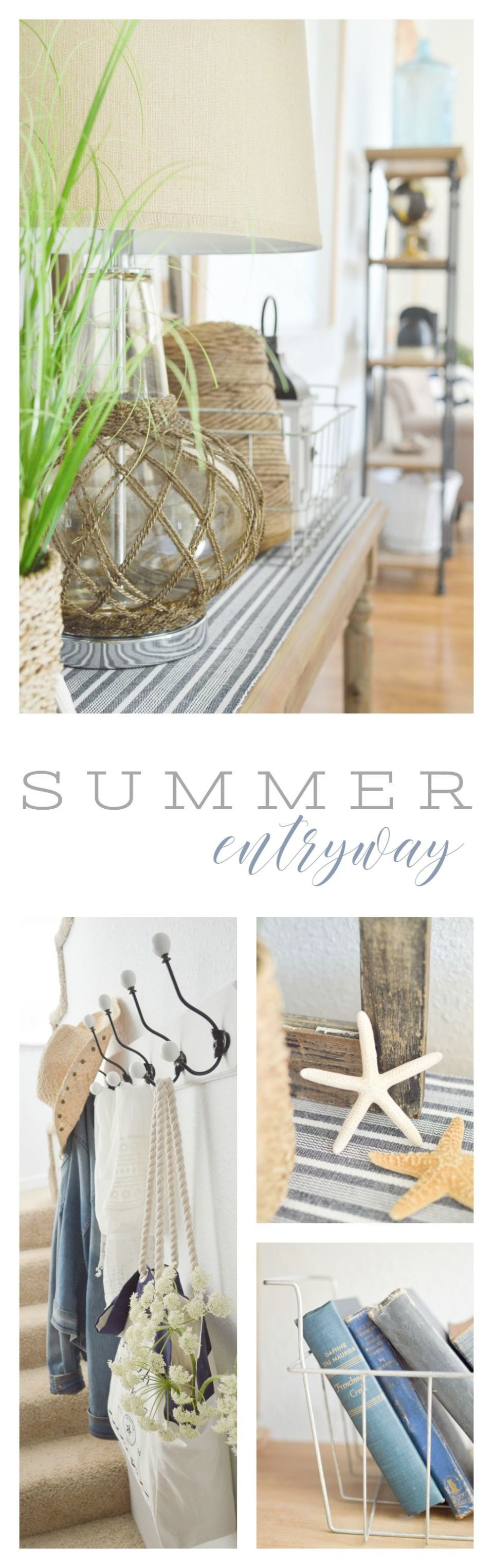 Summer Entryway Home Decorating Ideas Our Entry Is Full Of