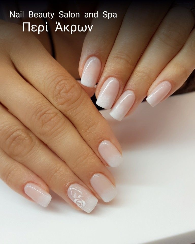 Natural nails with gel, long square Oval Shape, gel polish ...