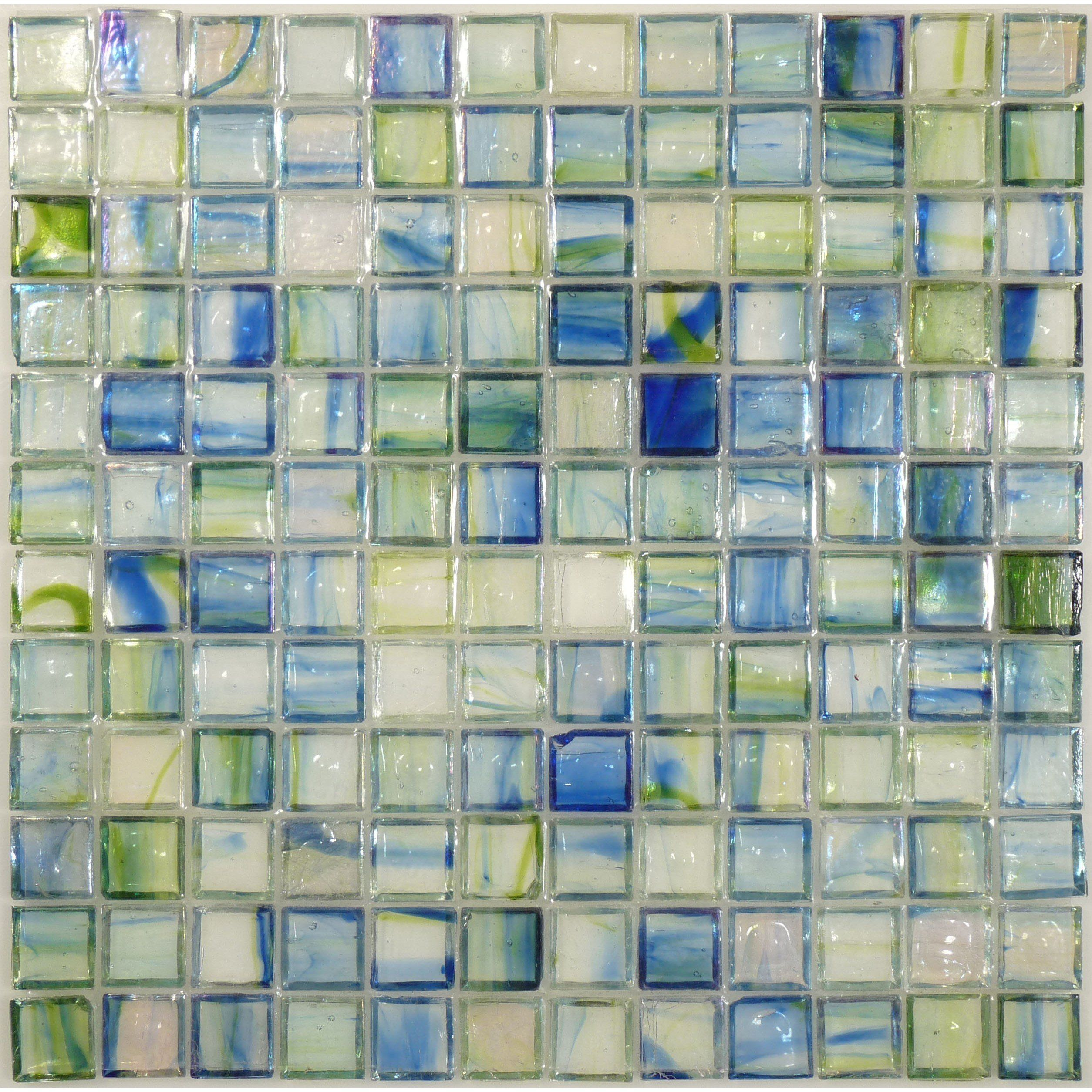 Hirsch 1 X 1 Green Glass Square Tile Glossy Iridescent Ji0142 Iridescent Glass Glass Tile Iridescent Tile