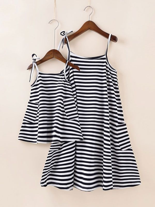 a4c51d908 Stripe A-line Mommy-baby Set | mom and daughter matching outfits | free  shipping mom-baby dress set #kidsclothes #matchingoutfits #aw17