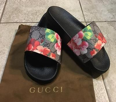 19a993d93496 Gucci GG Blooms SLIDES Sandals EU 37 Size 6.5