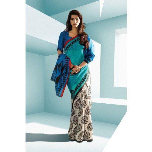 Online Shopping for Designer Indian Saree Bhagalpuri Si   Designer Sarees   Unique Indian Products by Aum Sanskriti - MAUM 40794593340