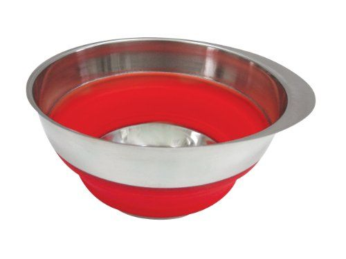 Collapsible Silicone And Stainless Steel Mixing Bowl By