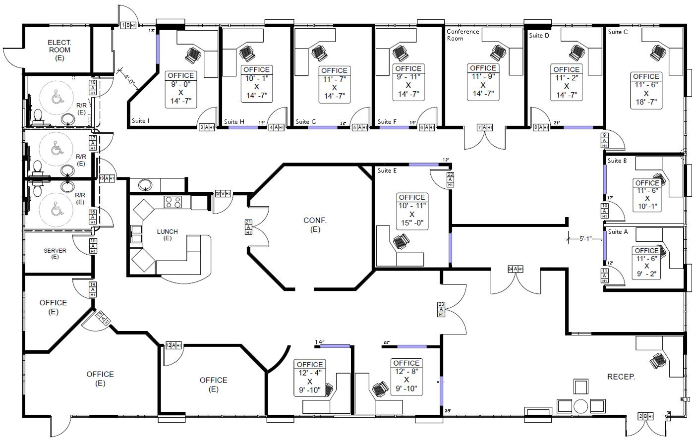 Floor plans commercial buildings carlsbad commercial for Metal building office floor plans