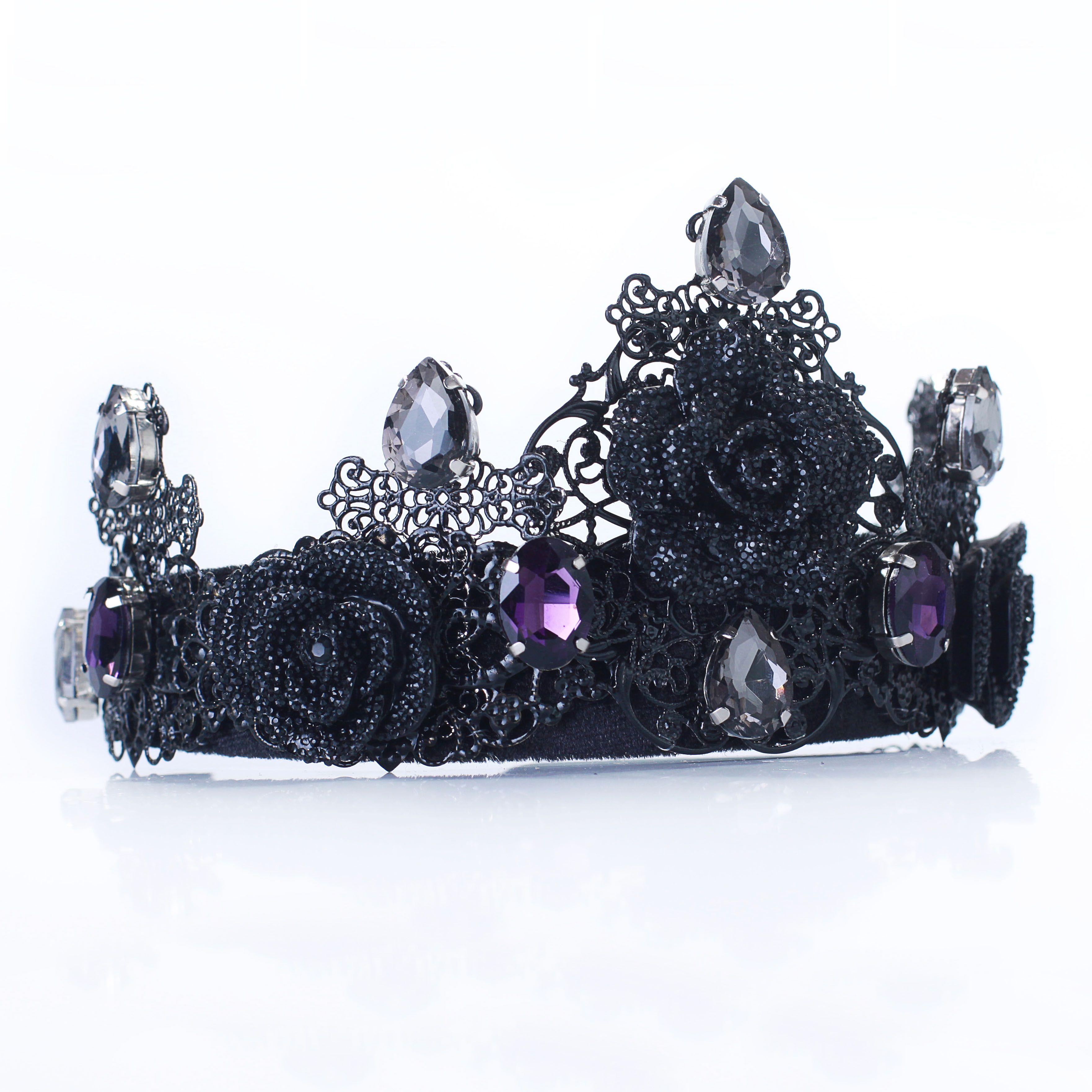 ANN Black Crown Tiara Evil Crown Gothic Crown