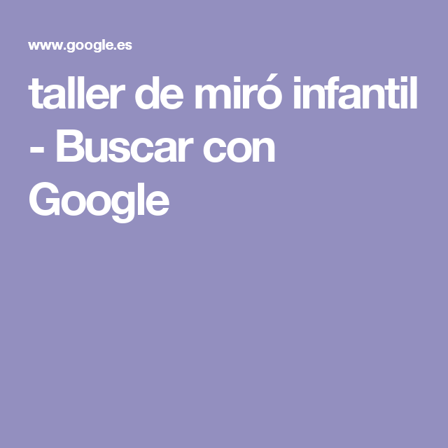 taller de miró infantil - Buscar con Google