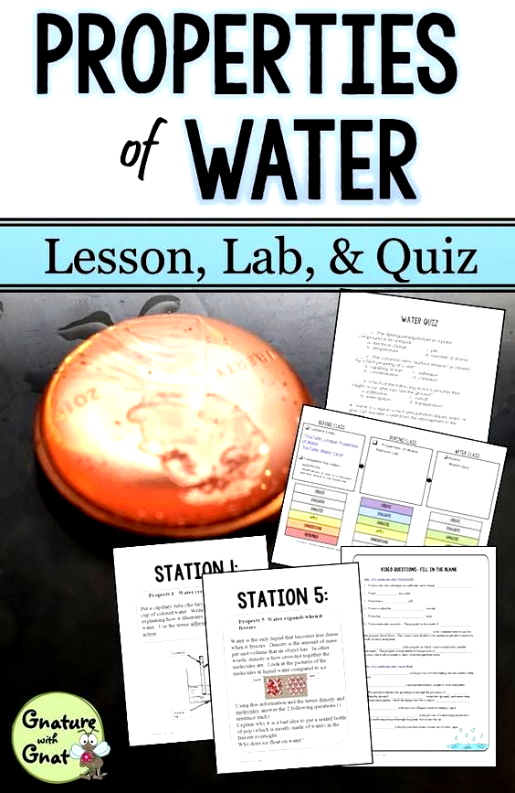 Water Cycle and Properties of Water Lesson in 2020 Water