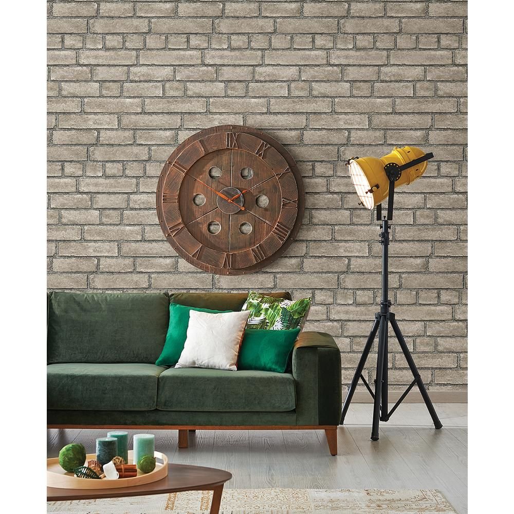 AStreet Facade Taupe Brick Wallpaper 254024052 Brick