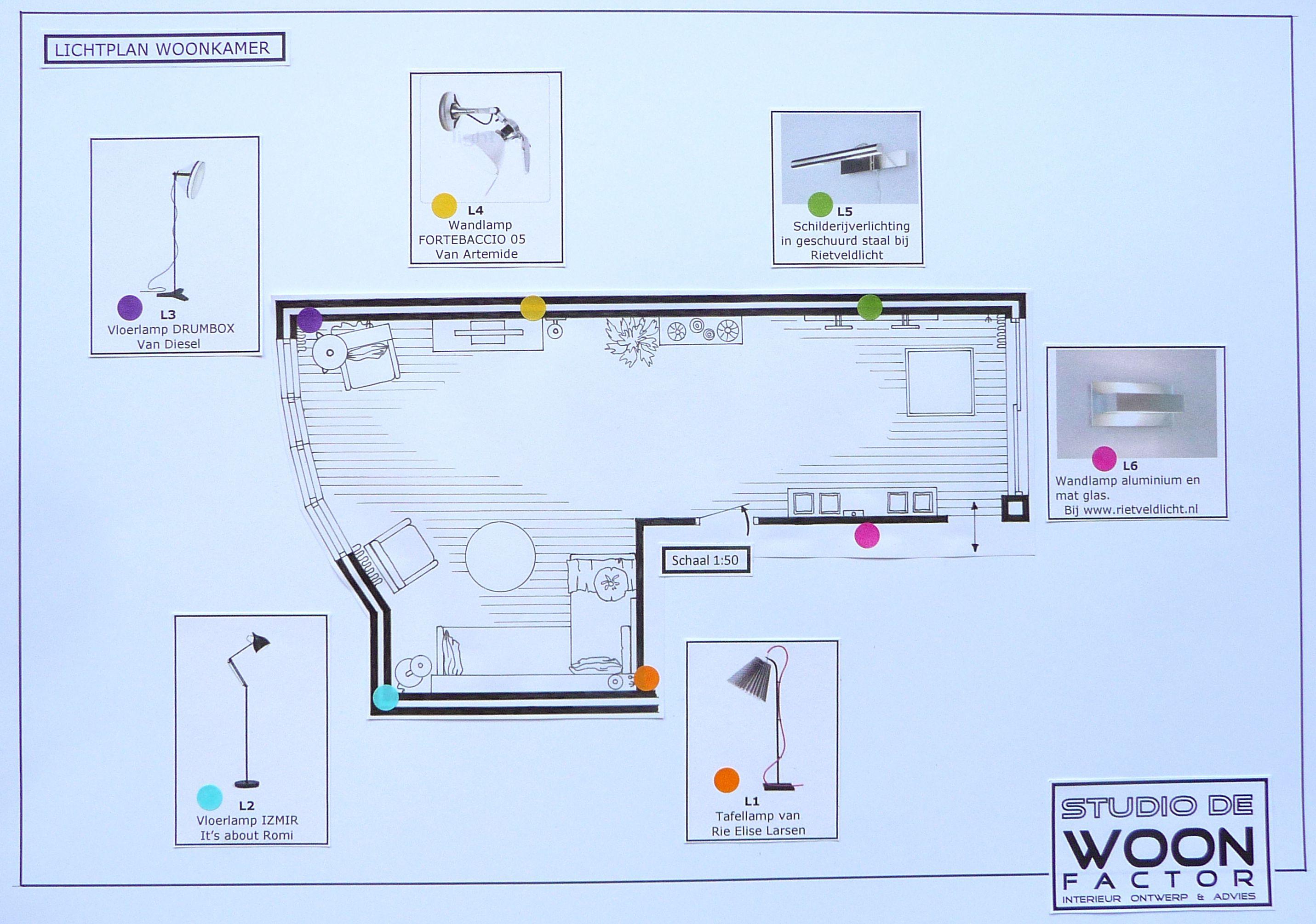Ook het lichtplan voor de woonkamer hebben wij uitgewerkt. De ...