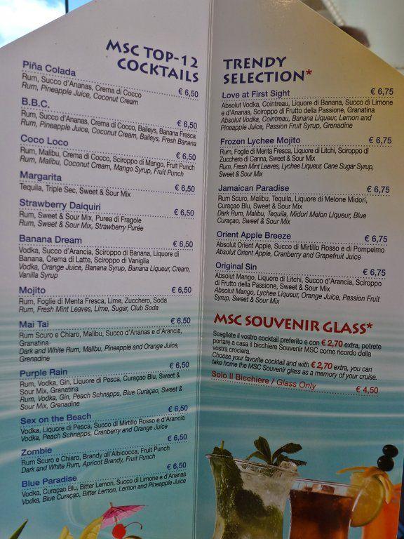 Bar - Poolbar (With images) | Caribbean drinks, Drink menu ...