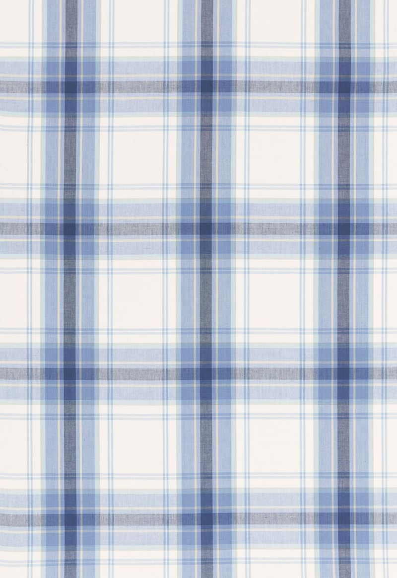 68072 St. Martin Plaid Cornflower by Schumacher