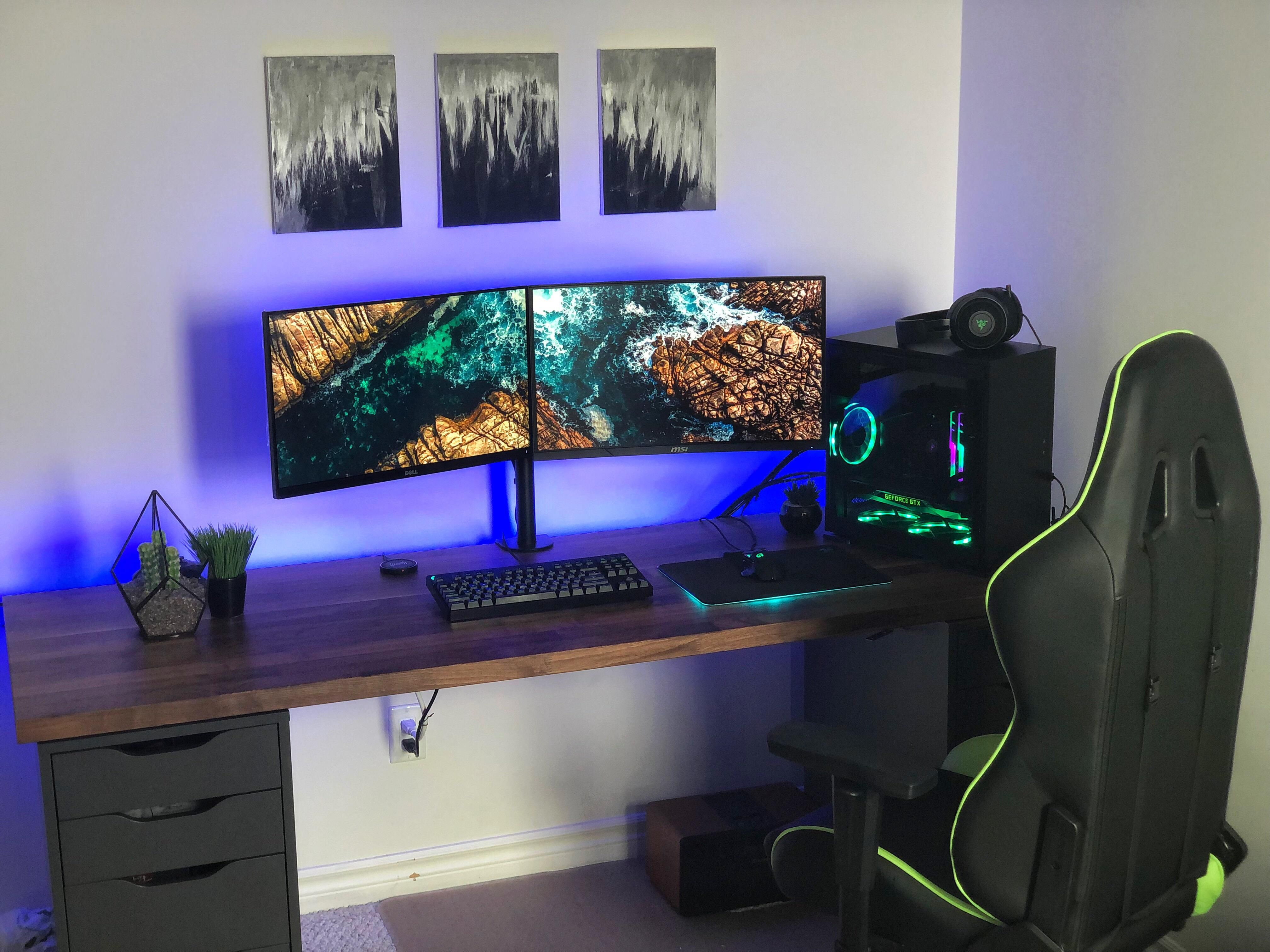My Submission To The Ikea Alex Karlby Desk Club Custom Computer Desk Gamer Room Diy Ikea Computer Desk