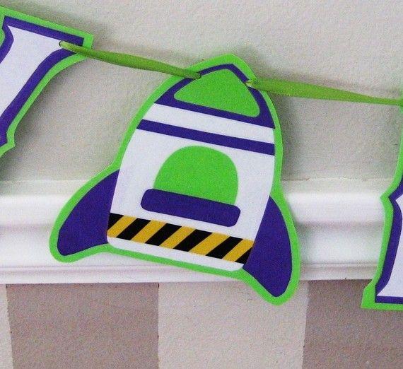 Buzz Lightyear Happy Birthday Banner Toy Story Birthday