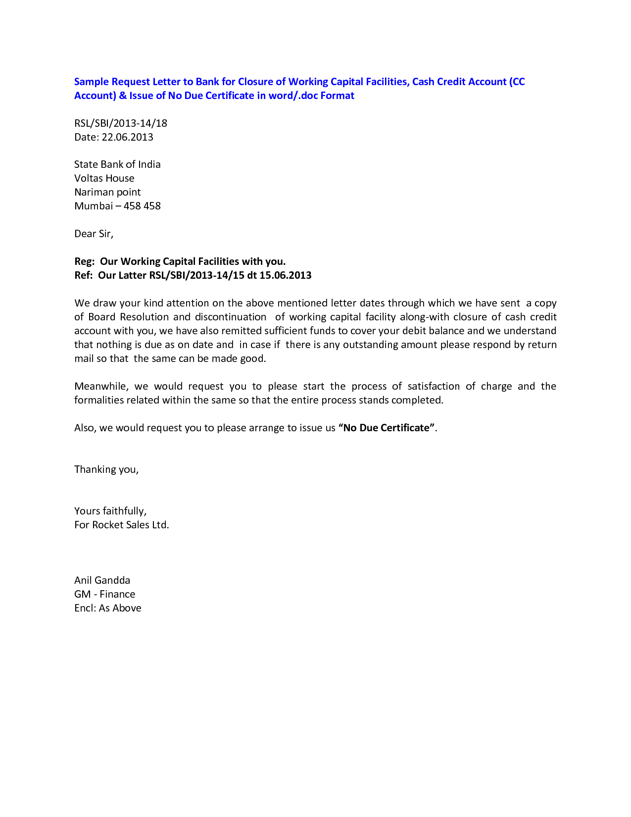 Corporate bank account closing letterclosing a letter for Account closure letter template