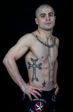 """GEORGI KARAKHANYAN- PRO MMA FIGHTER  """"I am a devoted vegetarian and I give this a lot of credit for my strength. The reason why I became a vegetarian is because I do not like animals being hurt. but I also believe that being a vegetarian is a healthy way to live. As for people who say, """"You can't fight if you're a vegetarian!"""" I say, I don't need to eat meat to kick their ass!"""""""