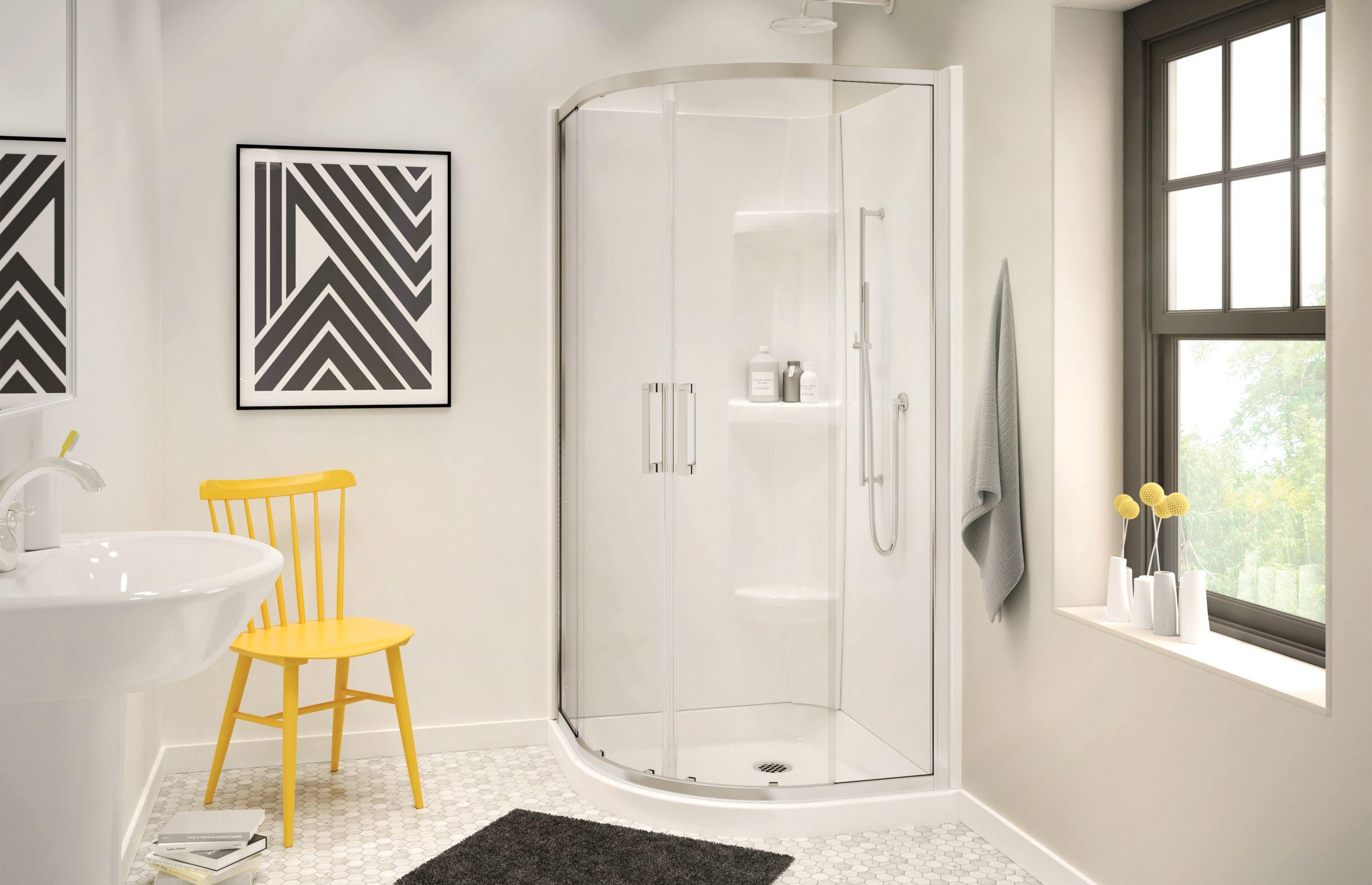 Radia Neo Round Sliding Shower Door 32 X 32 X 71 In 6 Mm