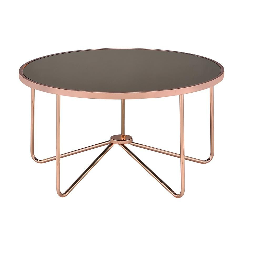 Acme Furniture Alivia Frosted Glass And Rose Gold Coffee Table 81835 The Home Depot Gold Coffee Table Round Glass Coffee Table Rose Gold Coffee Table [ jpg ]