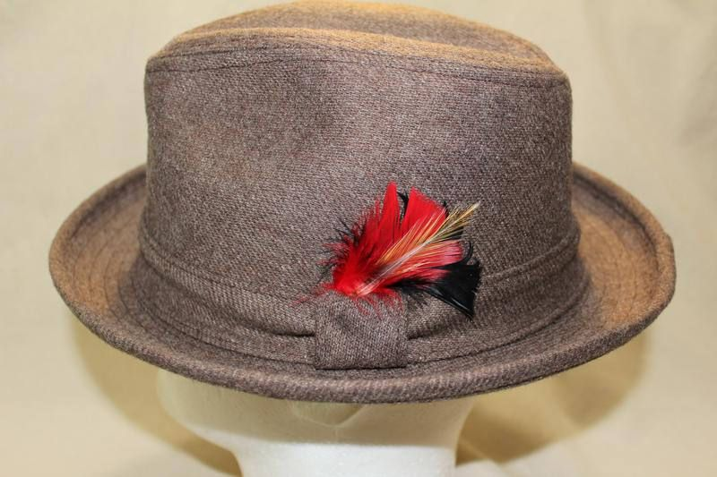 df43bfa40 Vintage Custom Made Bee Hats Taupe Fedora USA Size 7 1/4 58 cm by ...