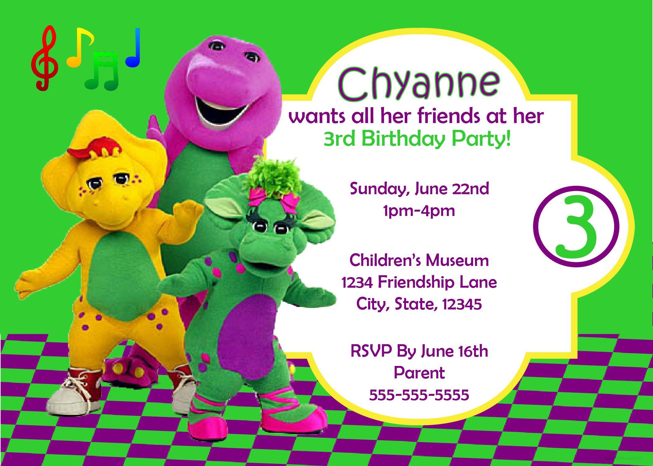 Barney & Friends - Digital Birthday Invitation | Shops, Friends and ...