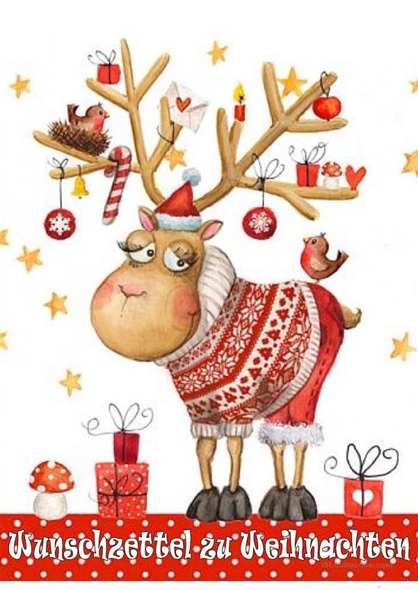 Wunschzettel zu Weihnachten | Weihnachten (Deutsch für Kinder ...