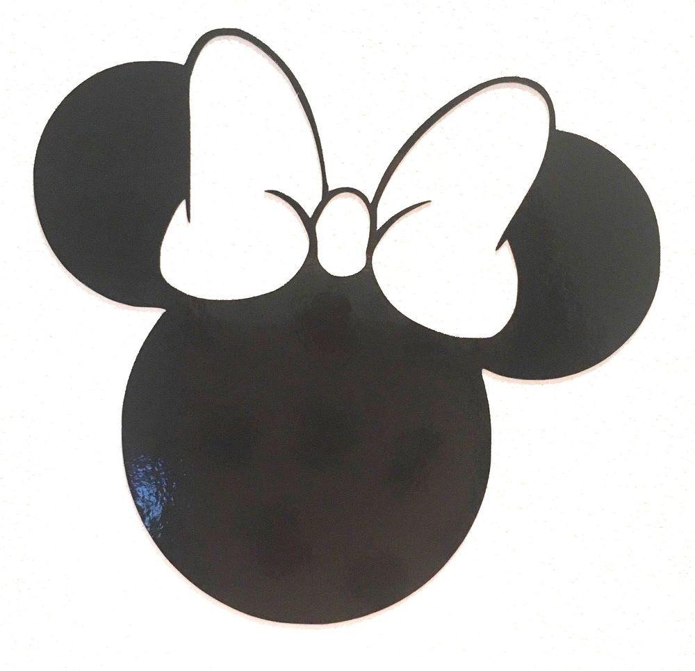 Minnie Mouse Head Silhouette Decal Vinyl Sticker Various Colours Sizes Cartoon Vinyl Sticker Minnie Vinyl