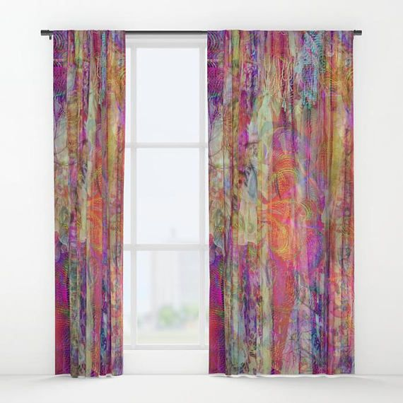 Boho Chic Window Curtains Or Valance Window Treatments