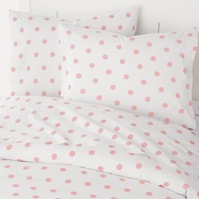 Pink Duvet Cover Kids Bedding, Pink Polka Dot Bedding