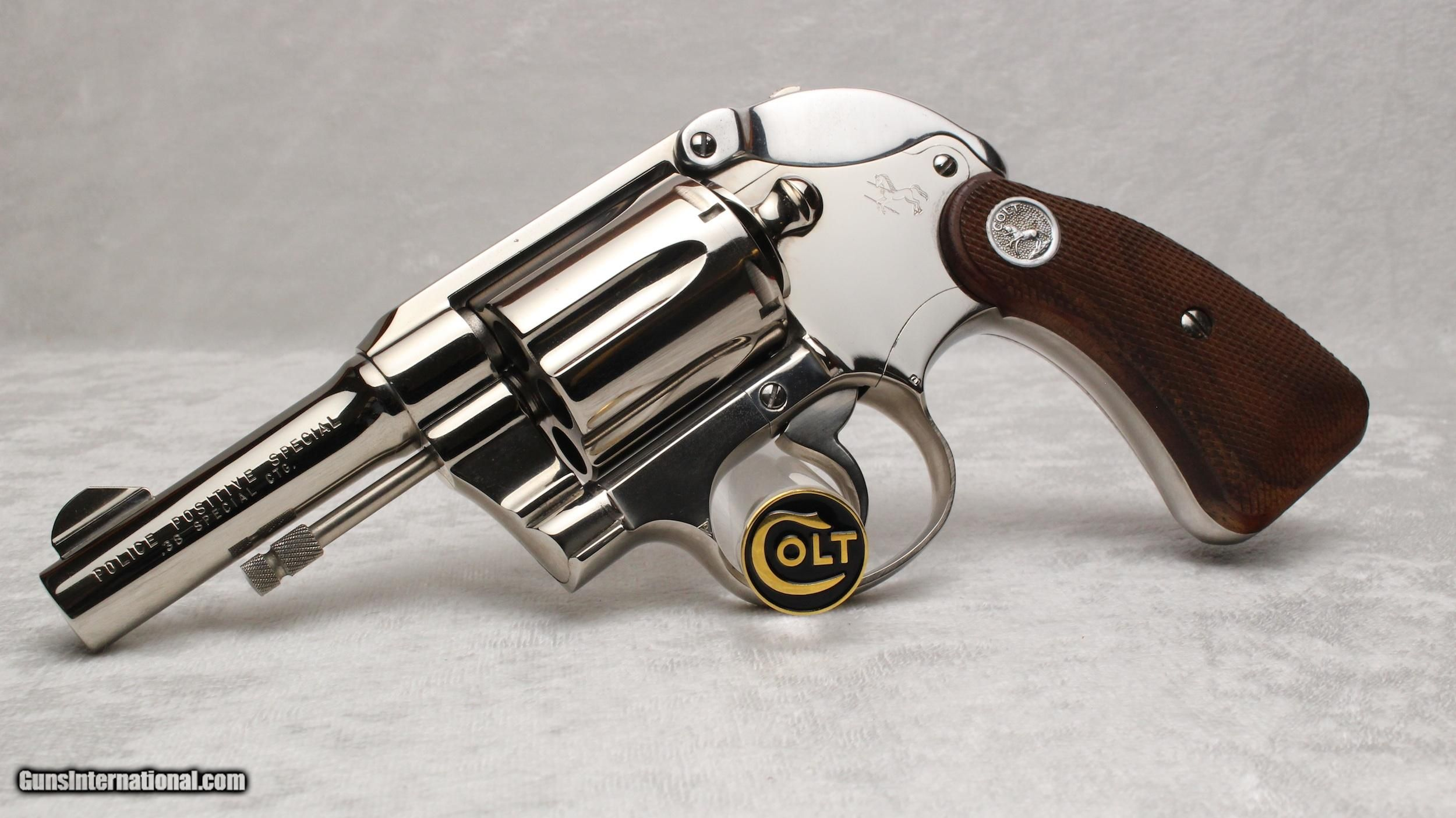 1960 3 nickel colt police positive special with factory hammer