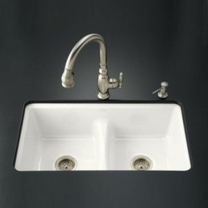 Kohler K5838-7U-0 Deerfield White/Color Undermount - Double ...