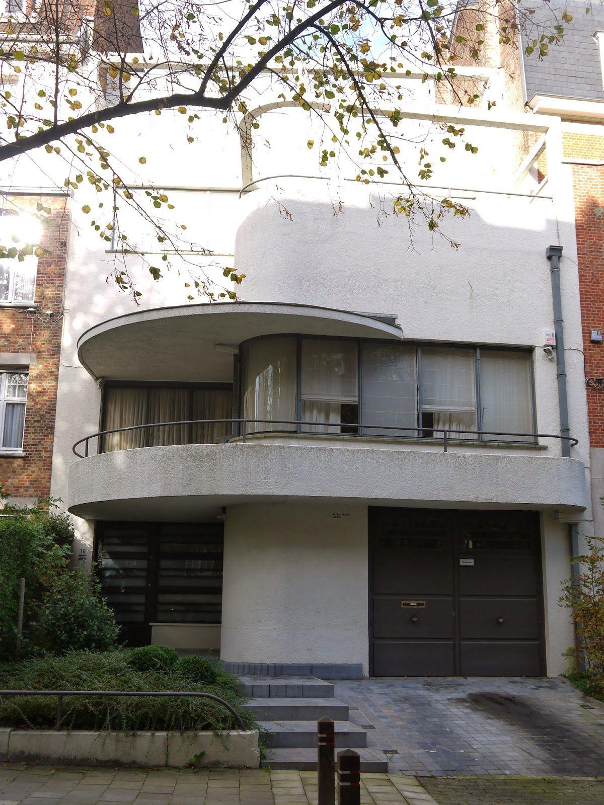 La maison des terrasses, Avenue l\'échevinage, Uccle. 1935, Raphael ...