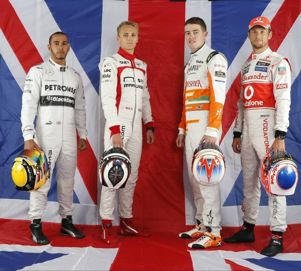 British drivers before the 2013 British GP