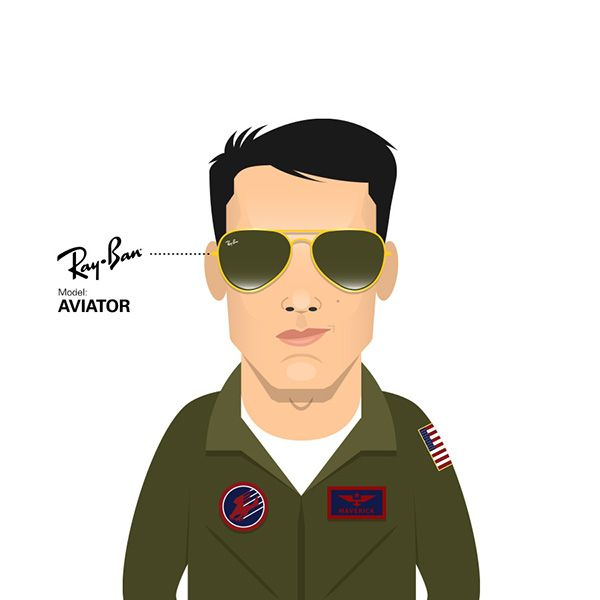 151a05fd6d Maverick (Tom Cruise) wearing Ray Ban Aviator in Top Gun (1986) by Capitoni