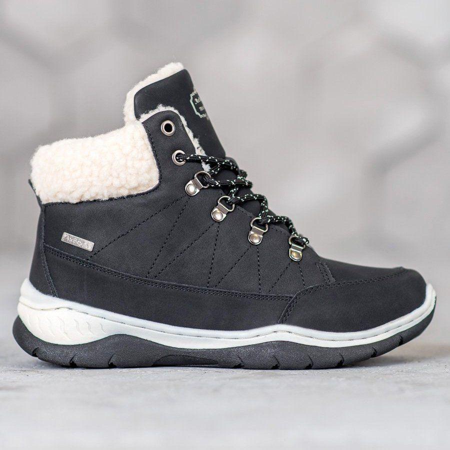Arrigo Bello Cieple Buty Zimowe Czarne Winter Shoes For Women Winter Boots Women Black Shoes