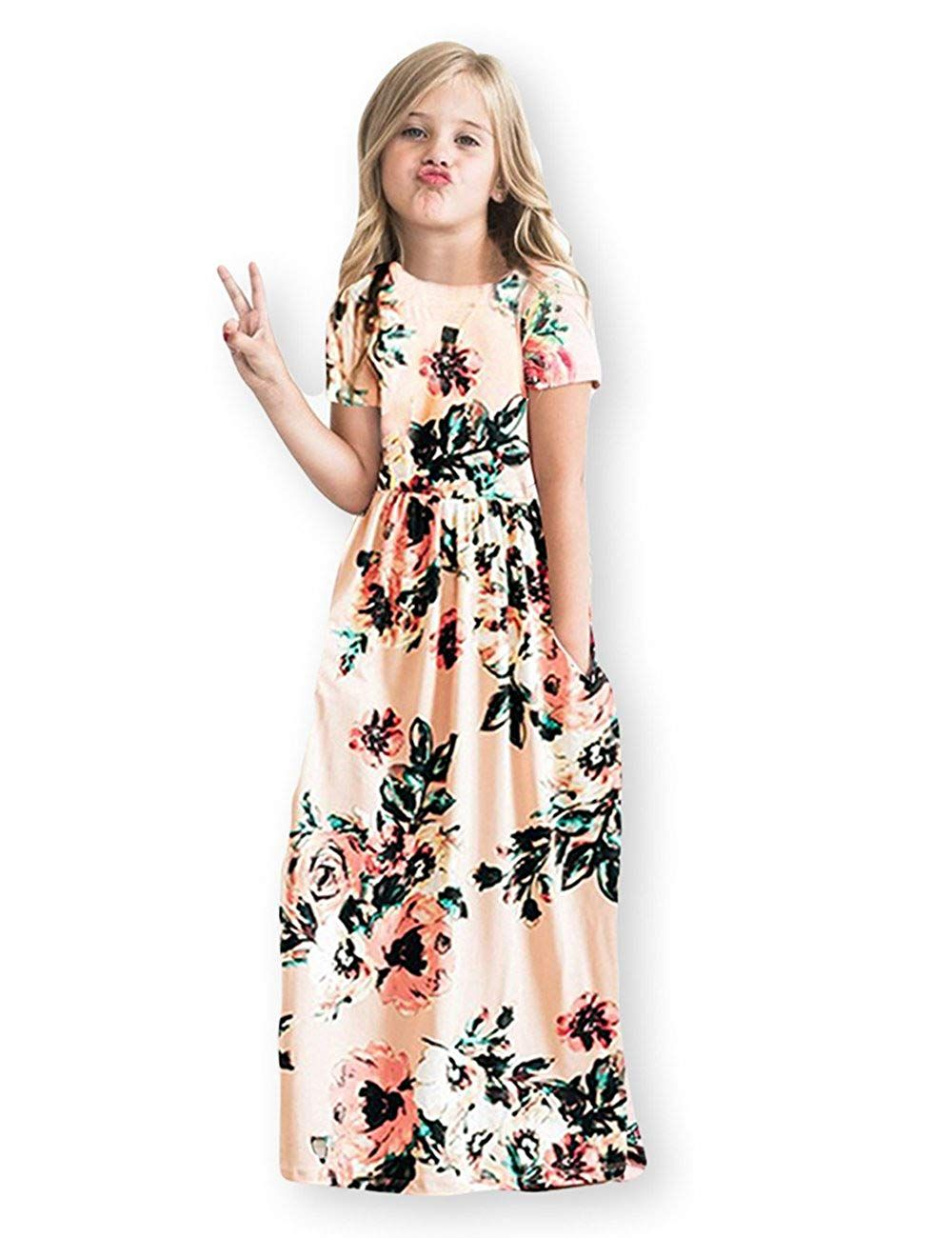 28b0d2b03 Best for stylish kids. 21KIDS Girls Floral Maxi Dress