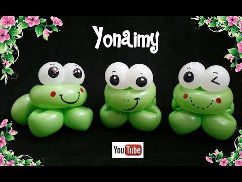 como hacer una rana con globos - como hacer figuras con globos