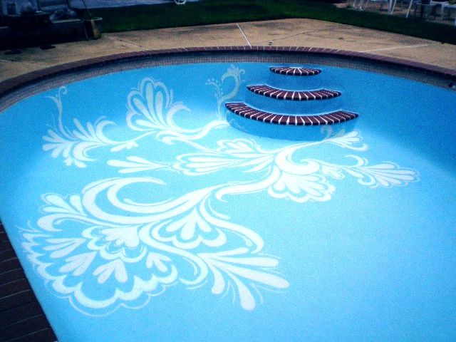 Hand Painted Pool Bottom By Olivia Browne Beautiful